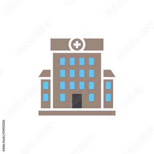 """Hospital symbol. clinic building icon vector, solid logo ..."