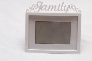 photo frame with the word family