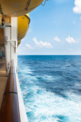 Viewing the horizon from a cruise ship