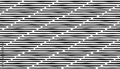 abstract hand draw seamless stripe patterns black horizontal lines
