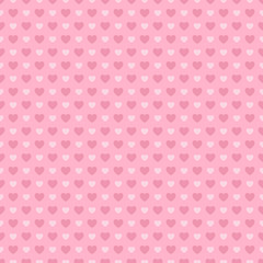 Valentine's Day seamless pattern. Pink hearts on pink background