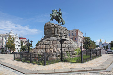 Ukraine. Kiev. The monument to Bogdan Khmelnitsky at the Sophia Square