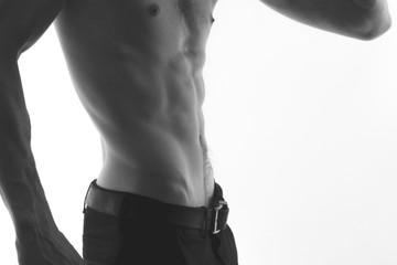 male torso, press