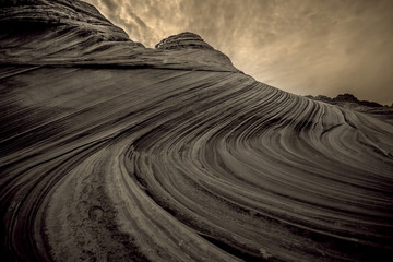 Foto op Canvas Donkergrijs Coyote Buttes The Wave