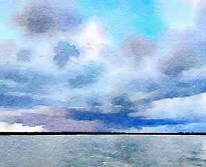 Watercolor Skyscape