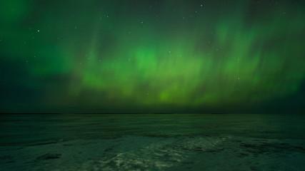 Northern Lights over Petrozavodsk. Karelia
