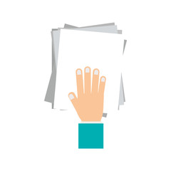 to deliver documents icon vector illustration graphic design