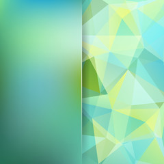 Polygonal vector background. Blur background. Can be used in cover design, book design, website background. Vector illustration