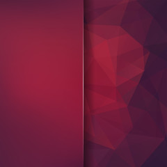 Abstract polygonal vector background. Brown, purple geometric vector illustration. Creative design template. Abstract vector background for use in design