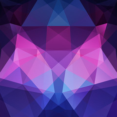 Abstract polygonal vector background. Dark purple geometric vector illustration. Creative design template.