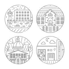 City architecture illustrations