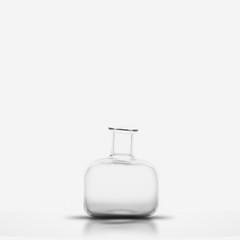 Glass bottle isolated. 3D illustration