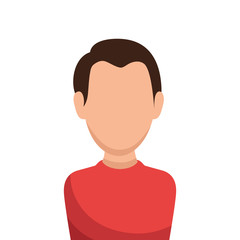man avatar character isolated icon vector illustration design
