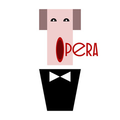 Opera singer in a tuxedo with a bow tie.