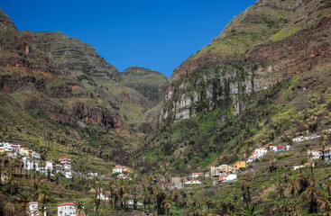 Hillside homes in the beautiful Valle Gran Rey