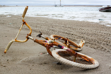 Bike on the beach, Gjoa Haven, Canada