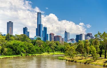 Skyscrapers of Melbourne CBD in Australia