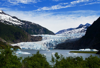 Mendenhall Glacier near Juneau Alaska