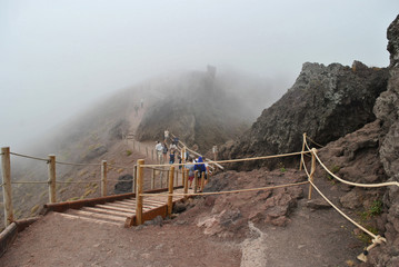 Expedition conquered peak of Vesuvius.