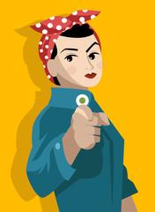poster feminism feminist worker girl