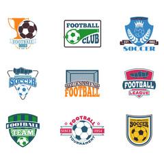 Soccer sign vector set.