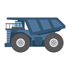 Vector tipper construction industry vehicle illustration.