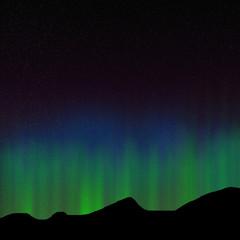 Green aurora,illustration