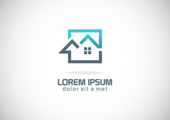 square home icon vector logo