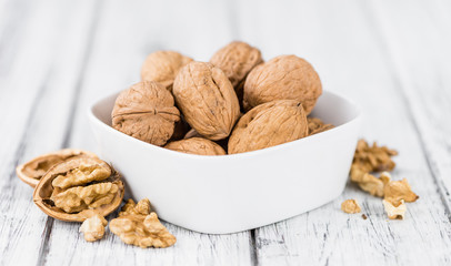 Portion of Whole Walnuts (selective focus)