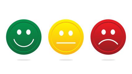 Smiley face icon vector