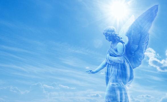 Magical angel in heaven