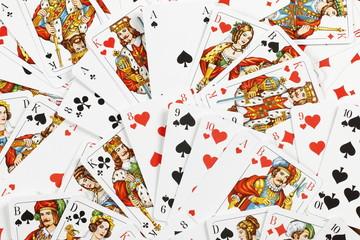 Haufen von versch. Skatkarten