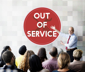 Out Of Service Sign Graphic Concept