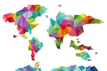 World Map Geometric Design