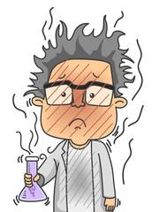 Man Scientist Error Lab