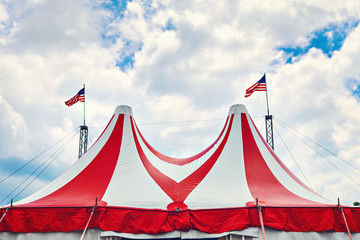 Vintage circus tent.
