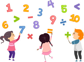 Stickman Kids Math Numbers