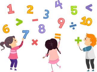 Stickman Kids Math Numbers