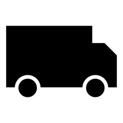 Truck icon - Flat design, glyph style icon - Filled black