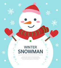 winter snowman illustration