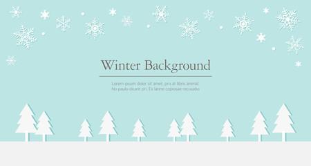 winter flat illustration