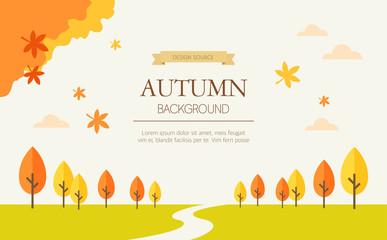 Vector autumn background illustration