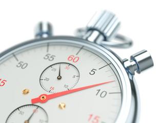 Clock face stopwatch close up