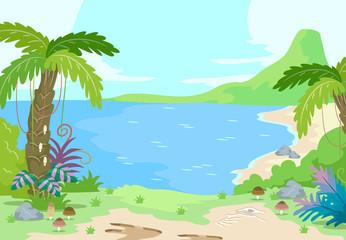 Prehistoric Sea Shore Scene