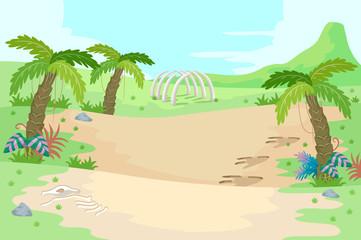 Prehistoric Scene Fossils