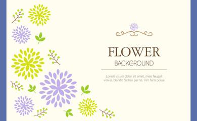 Floral background with frame illustration