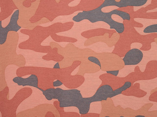 Pink camouflage textile background