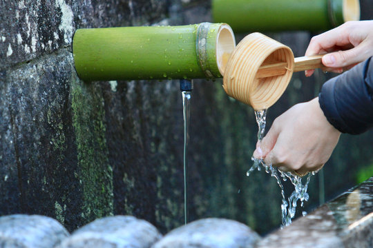 Washing Hands Before Entering Temple
