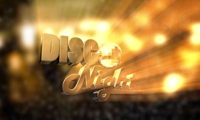 Disco Night - Typo - Glaskugel