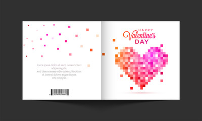 Greeting card for Valentine's Day Celebration.